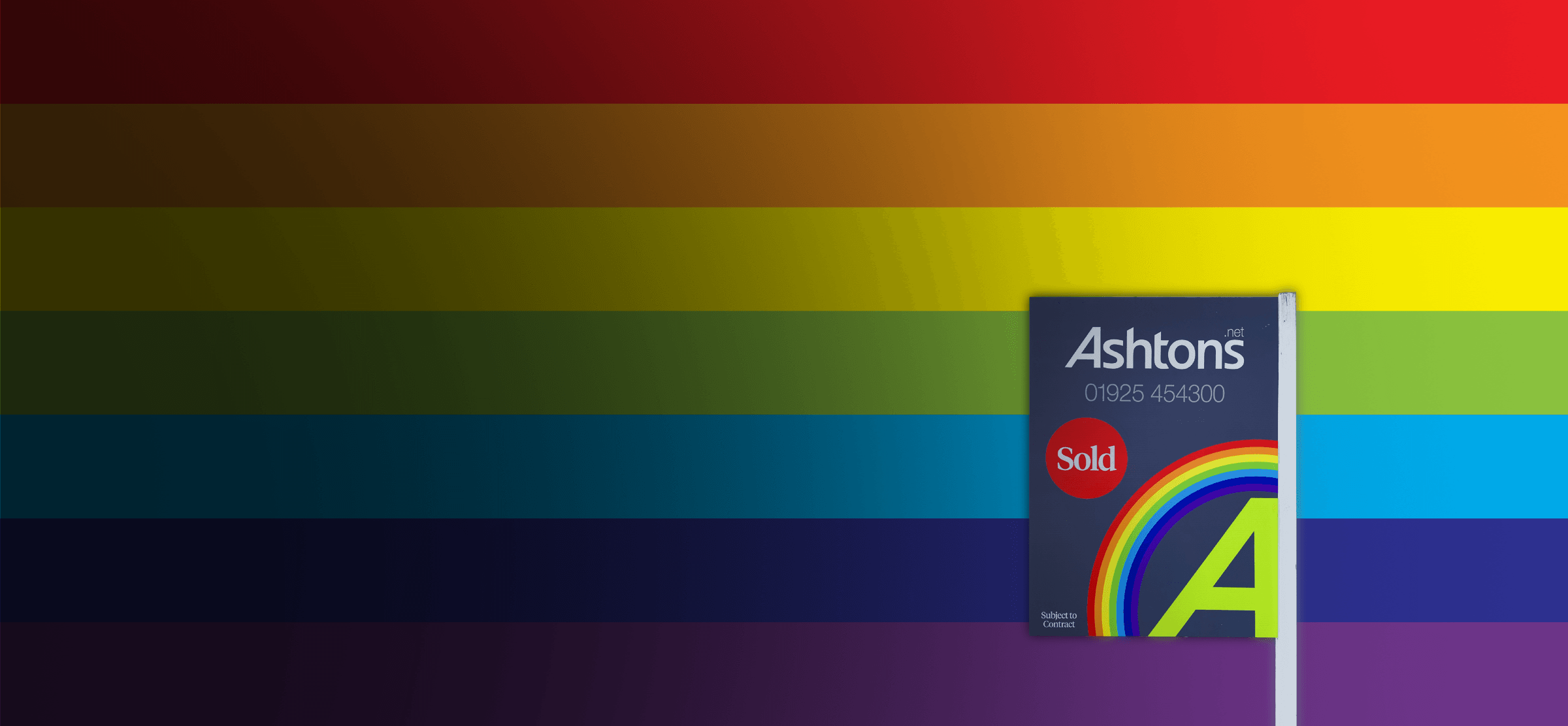 Ashtons Rainnbow For Sale Board, Warringto, Wigan, StHelens, Sell my house
