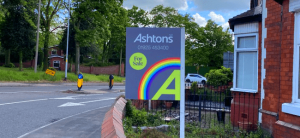Rainbow For Sale Board, Ashtons, Sell My Home, Warrington, Wigan, ST.Helens